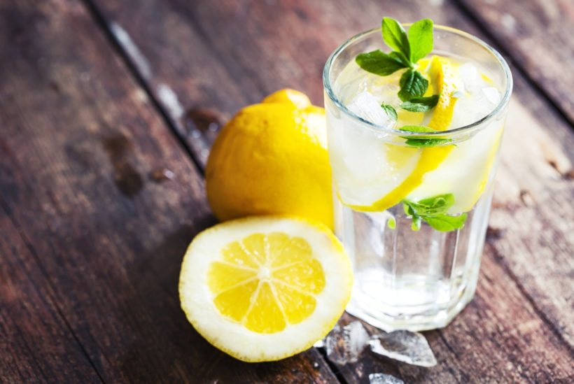 Water and lemon in the morning